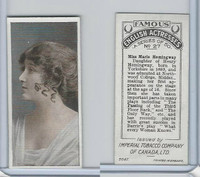 C9 Imperial Tobacco, Famous English Actresses, 1924, #27 Marie Hemingway