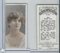 C9 Imperial Tobacco, Famous English Actresses, 1924, #37 Evelyn Laye