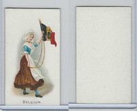 C91 Imperial Tobacco, Flag Girls, 1910, Belgium