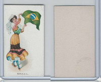 C91 Imperial Tobacco, Flag Girls, 1910, Brazil