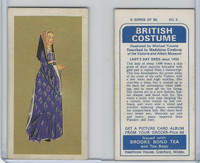 B0-0 Brooke Bond Tea, British Costume, 1967, #8 Lady's Day Dress