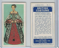 B0-0 Brooke Bond Tea, British Costume, 1967, #11 Lady's Formal Dress