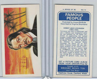 B0-0 Brooke Bond Tea, Famous People, 1967, #16 Robert Louis Stevenson