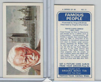 B0-0 Brooke Bond Tea, Famous People, 1967, #23 David Lloyd George