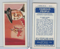 B0-0 Brooke Bond Tea, Famous People, 1967, #27 Sir Harry Lauder