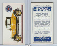 B0-0 Brooke Bond Tea, History Motor Car, 1974, #24 Morris Cowley