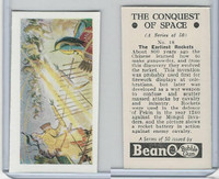 B0-0 Beano, Conquest Of Space, 1956, #18 The Earliest Rockets