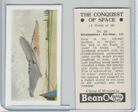 B0-0 Beano, Conquest Of Space, 1956, #28 Stratosphere Air Liner III