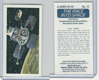 B0-0 Brooke Bond Tea, Race Into Space, 1971, #23 Lunar Orbiter