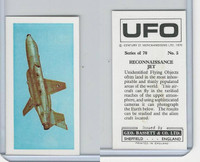B0-0 Bassett, UFO, 1974 Space Cards, #5 Reconnaissance Jet Airplane