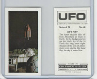B0-0 Bassett, UFO, 1974 Space Cards, #40 Lift Off