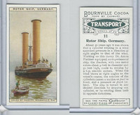 C0-0 Cadbury Chocolate, Transport, 1925, #11 Rotor Ship, Germany