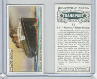 C0-0 Cadbury Chocolate, Transport, 1925, #15 SS Majestic Ship, Great Britain
