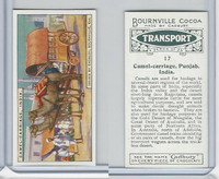 C0-0 Cadbury Chocolate, Transport, 1925, #17 Camel Carriage, Pujab India