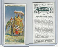C0-0 Cadbury Chocolate, Transport, 1925, #18 State Elephant, India