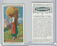 C0-0 Cadbury Chocolate, Transport, 1925, #21 Load of Hay, Italy