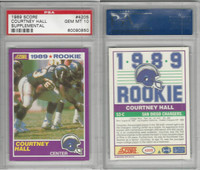 1989 Score Supplement Football, #420S Courtney Hall RC, Chargers, PSA 10 Gem