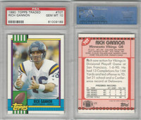 1990 Topps Football Traded, #70T Rich Gannon RC, Vikings, PSA 10 Gem