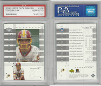 2000 Upper Deck Graded Football, #106 Todd Husak, Redskins, PSA 10 Gem