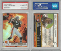 2001 Topps Finest Football, #112 Quincy Morgan, Browns, PSA 10 Gem