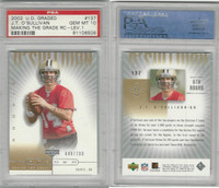 2002 Upper Deck Graded Football, #137 JT O'Sullivan, Saints, PSA 10 Gem