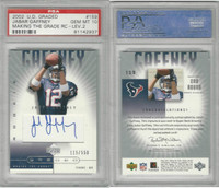 2002 Upper Deck Graded Football, #159 Jabar Gaffney AUTO Texans, PSA 10 Gem