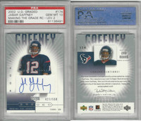 2002 Upper Deck Graded Football, #174 Jabar Gaffney AUTO Texans, PSA 10 Gem