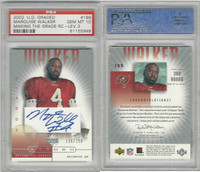 2002 Upper Deck Graded Football, #199 Marquise Walker AUTO, PSA 10 Gem