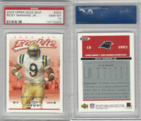 2003 Upper Deck MVP Football, #344 Ricky Manning RC Panthers, PSA 10 Gem
