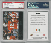 2011 Upper Deck College Football, #28 Jim Kelly, Miami Hurricanes, PSA 10 Gem