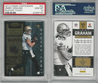 2012 Panini Contenders Football, #62 Jimmy Graham, Saints, PSA 10 Gem