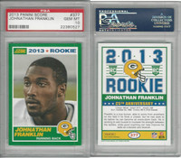 2013 Panini Score Football, #377 Johnathan Franklin RC, Packers, PSA 10 Gem