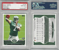 2013 Topps Football, #126 Geno Smith RC, Jets, PSA 10 Gem