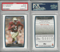 2013 Bowman Football, #127 E.J. Manuel RC, Bills, PSA 10 Gem