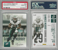 2015 Panini Prestige Football, #46 DeMarco Murray, Eagles, PSA 10 Gem