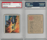 1950 Bowman, Wild Man, #18 Rescue At Sea, PSA 5 EX