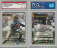 2000 Collectors Edge Football, #107 Peter Warrick, Florida State, PSA 10 Gem