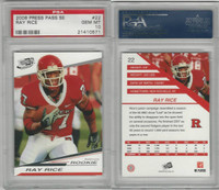 2008 Press Pass SE Football, #22 Ray Rice RC, Rutgers, PSA 10 Gem
