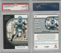 2009 Press Pass SE Football, #24 Hakeem Nicks, North Carolina, PSA 10 Gem