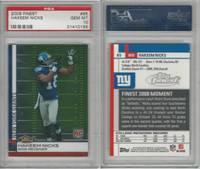 2009 Topps Finest Football, #65 Hakeem Nicks RC, Giants, PSA 10 Gem