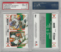 2010 Topps Football, #GL-BP Jim Brown HOF, Adrian Peterson, PSA 10 Gem