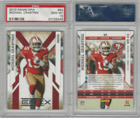 2010 Panini Epix Football, #84 Michael Crabtree, 49ers, PSA 10 Gem