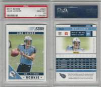 2011 Panini Score Football, #343 Jake Locker RC, Titans, PSA 10 Gem