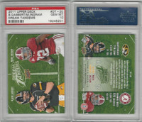 2011 Upper Deck Football, #DT20 Blaine Gabbert, Mark Ingram, PSA 10 Gem