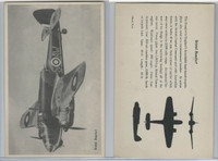 WC 1940's Official Photo Card, WW II Airplanes (4.5X7 in), Bristol Beufort