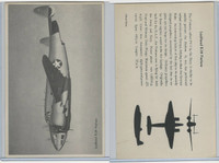 WC 1940's Official Photo Card, WW II Airplanes (4.5X7 in), Lockheed B34 Ventura