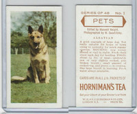 H0-0 Hornimans Tea, Pets, 1960, #1 Alsatian Dog