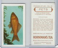 H0-0 Hornimans Tea, Pets, 1960, #45 Goldfish