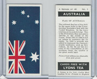 L0-0 Lyons Tea, Australia, 1959, #1 Flag of Australia