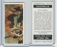 L0-0 Lyons Tea, Australia, 1959, #16 Dingo Family